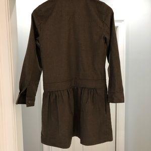 Jcrew, Army Green, size 2 drop waist dress.
